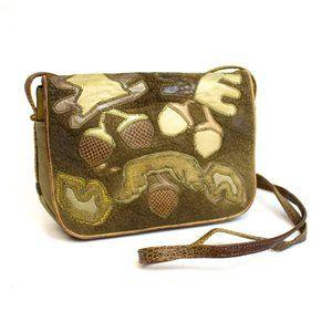 Sharif American Leather Acorns Crossbody Bag
